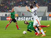 Shakhtar, juego de fútbol de Donetsk - atlética, Bilbao Fotos de archivo