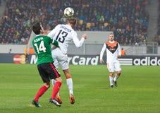 Shakhtar, juego de fútbol de Donetsk - atlética, Bilbao Fotografía de archivo libre de regalías