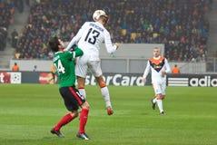 Shakhtar, juego de fútbol de Donetsk - atlética, Bilbao Imágenes de archivo libres de regalías