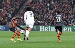 Shakhtar player block the ball Royalty Free Stock Photography