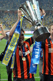 Shakhtar player with the cup Stock Images