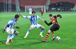Shakhtar player dribbling Royalty Free Stock Photos