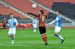 Shakhtar player kicked the ball by head Stock Photography
