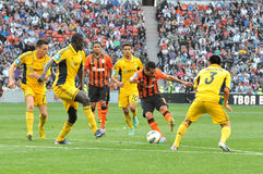 Shakhtar player makes a breakthrough Royalty Free Stock Images