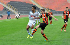 Shakhtar player making the pass Royalty Free Stock Photo