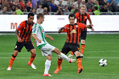 Shakhtar player misses the ball Stock Photography