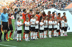 Shakhtar players applauded the fans Stock Photo