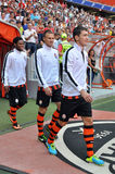 Shakhtar players going to the field Stock Photography