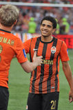 Shakhtar players great each other Stock Photography