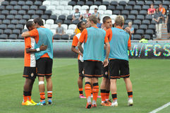 Shakhtar players hug each other Stock Images