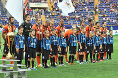 Shakhtar players Royalty Free Stock Image