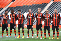 Shakhtar players in the new form Royalty Free Stock Photography
