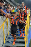 Shakhtar players Royalty Free Stock Photo