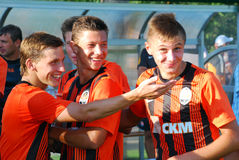 Shakhtar players smiling Royalty Free Stock Image