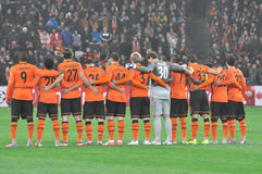 Shakhtar players  together Stock Photo