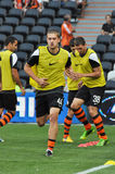 Shakhtar players warms-up Stock Image
