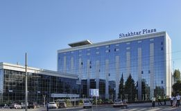 The Shakhtar Plaza Hotel in Donetsk near the Donbas Arena Stock Image