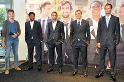 Shakhtar team in business suits Royalty Free Stock Photography