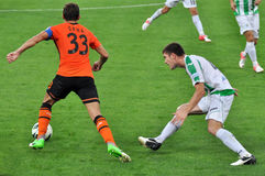 Shakhtar team captain Dario Srna, took the ball Stock Photography