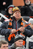 Shakhtar team fan in the stands root for their team Royalty Free Stock Images