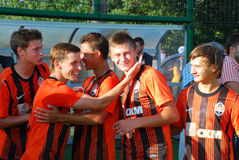 Shakhtar team after game Stock Photography