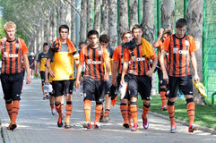Shakhtar team before the game Royalty Free Stock Photos