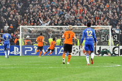 Shakhtar team makes the second goal Stock Image