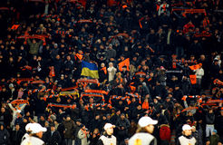 Shakhtar team supporters Royalty Free Stock Image