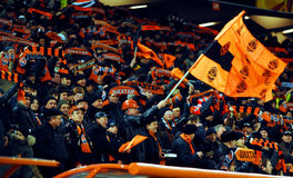 Shakhtar team supporters Royalty Free Stock Photo