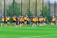 Shakhtar team to warm up Stock Image