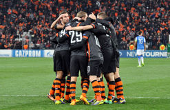 Shakhtar team together Royalty Free Stock Images