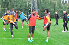 Shakhtar team trains at its base Stock Images