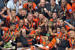 Shakhtar team - the winner! Stock Photo