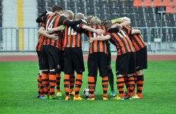 Shakhtar U-19 team together Stock Photos