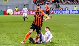 Shakhtar versus Sevilla Stock Foto's