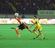 shakhtar vs zapałczany Kharkiv futbolowy metalist Zdjęcia Royalty Free