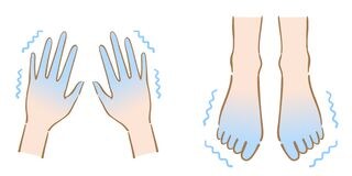 Free Shaking Cold Feet And Hands Illustration. Human Body Part. Health Care Concept Royalty Free Stock Image - 206236886