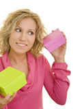 Shaking gifts Stock Photos