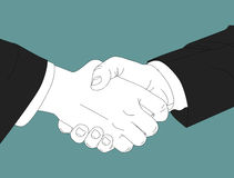 Shaking Hand. Two business men shaking hands stock illustration