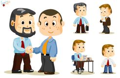 Shaking Hand. Business People. Shaking hand. Set of people about Business activity in office. Detailed Vector Series Stock Images
