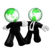 Shaking hand businessman icon Royalty Free Stock Photo