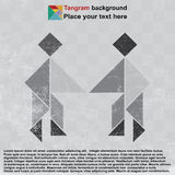 Shaking hand tangram Royalty Free Stock Photos