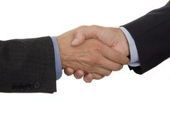 Shaking Hands. Two business men shaking hands Royalty Free Stock Images