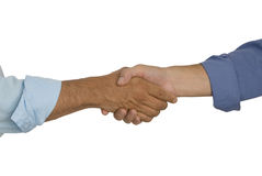 Shaking Hands. Two business men shaking hands Stock Image