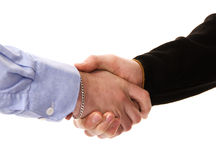 Shaking hands. Men shaking hands in agreement Stock Photo