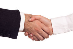 Shaking hands stock photography