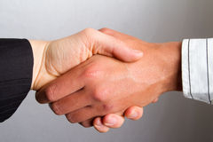 Shaking hands stock image