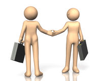 They are shaking hands. Royalty Free Stock Photo