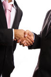 Shaking hands. Two businessmen shaking hands on whirw Royalty Free Stock Photos