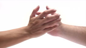 Shaking Hands stock video footage